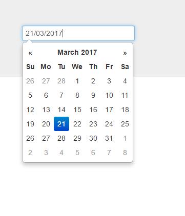 Bootstrap datepicker | The ASP NET Forums