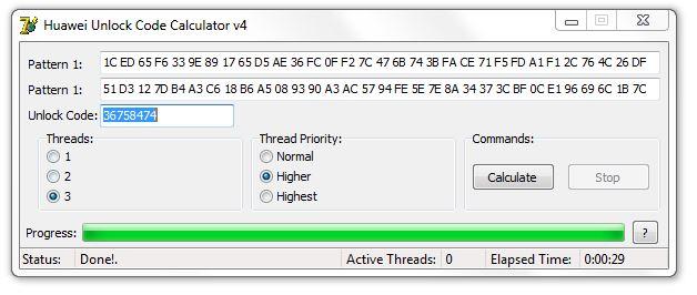 Huawei Unlock Code Calculator v4 - Very Fast