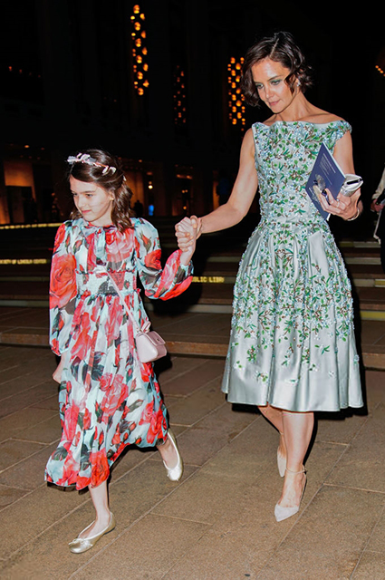 NEW YORK NY MAY 21 Katie Holmes and Suri Cruise enjoy a night at American Ballet Theater at Lincoln