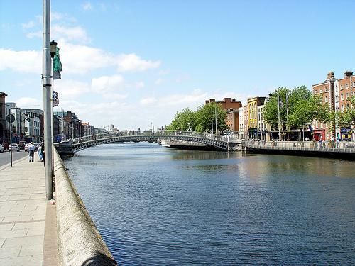 County Dublin Ha Penney Bridge over the River Liffey