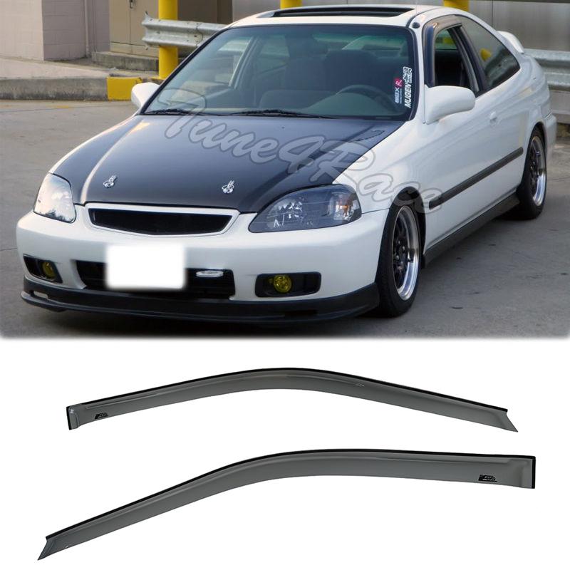 JDM Style Side Window Visors Fits 96-00 Honda Civic 2//3dr