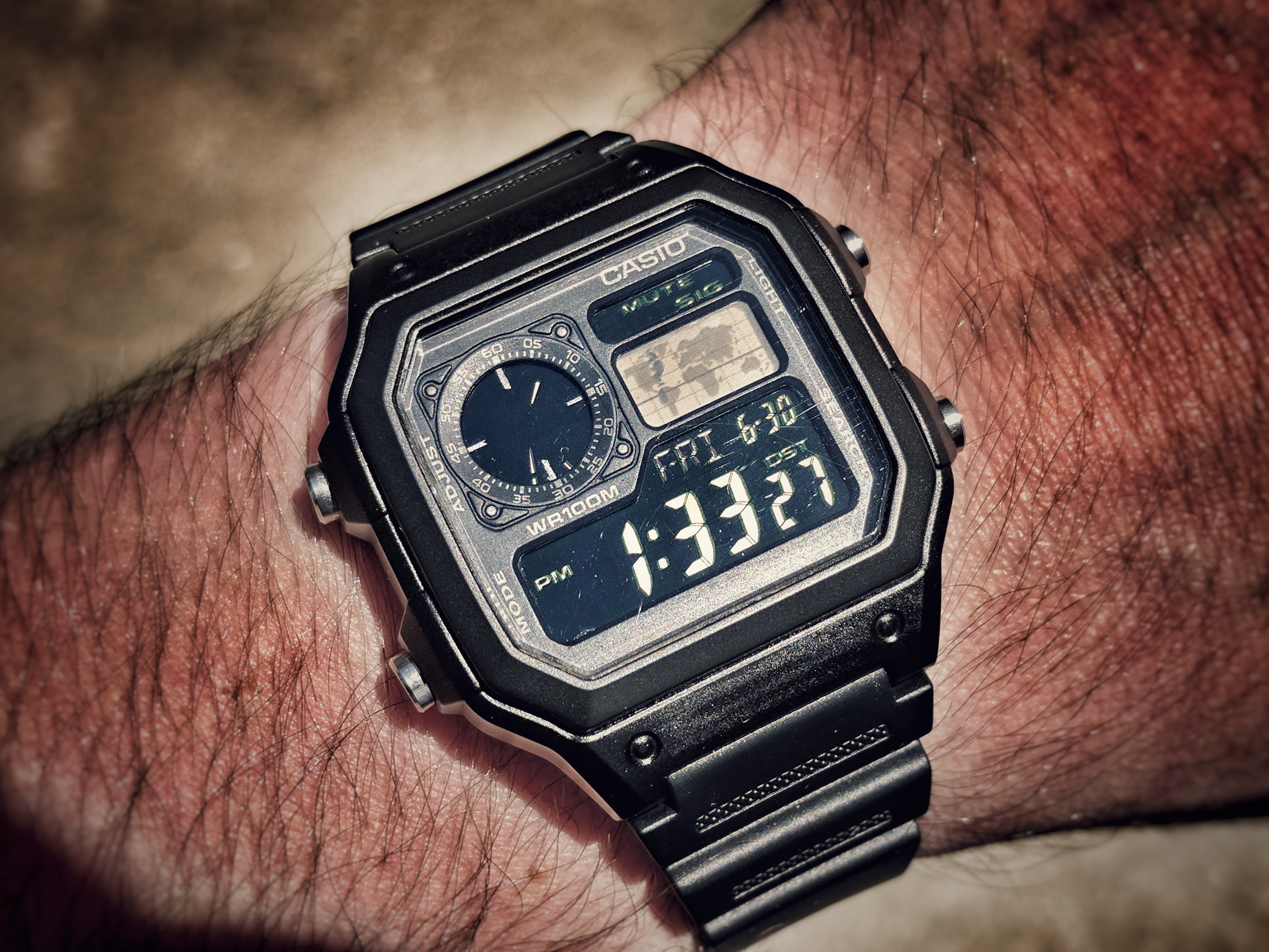 Casio Ae1200 Stealth Mod Project World Time Ae 1200whd 1a Original Now I Just Have To Find The Feeling Punny Please Vote For Led Color If You Havent Already Im Leaning Toward Red