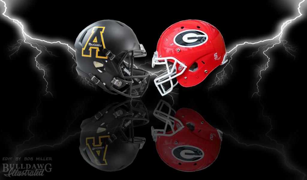 UGA vs. Appalachian State football graphic edit by Bob Miller