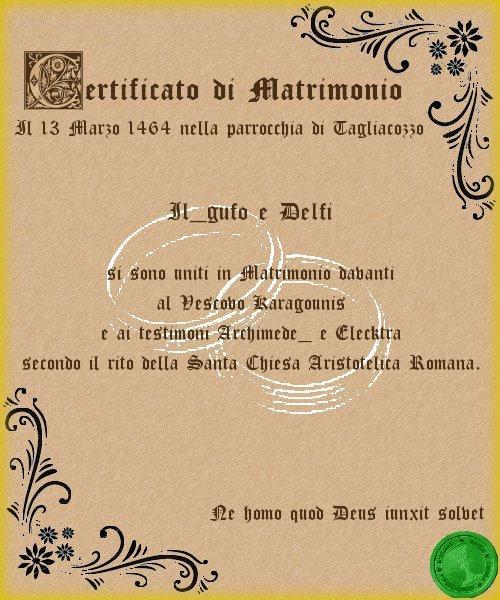 certificato matrimonio
