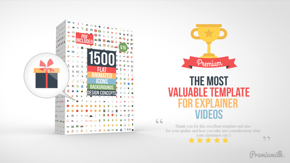 Videohive Flat Animated Icons Library V15 - 11453830 (Updated 24 January 18)