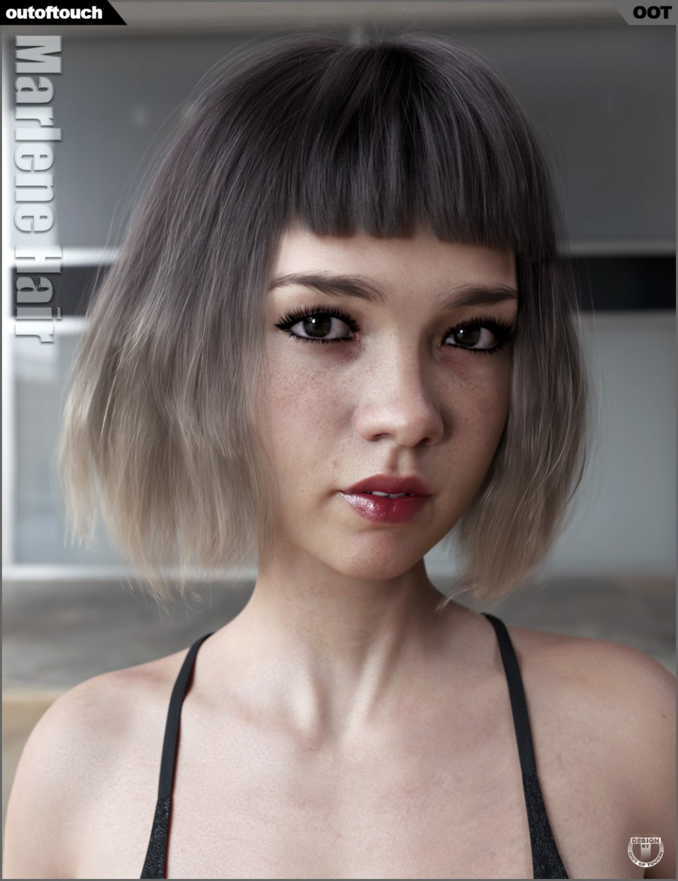 Marlene Bob Hair for Genesis 3 and 8 Female(s)