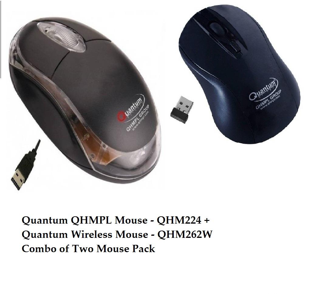 Quantum QHMPL Mouse – QHM222 + Quantum Wireless Mouse – QHM262W