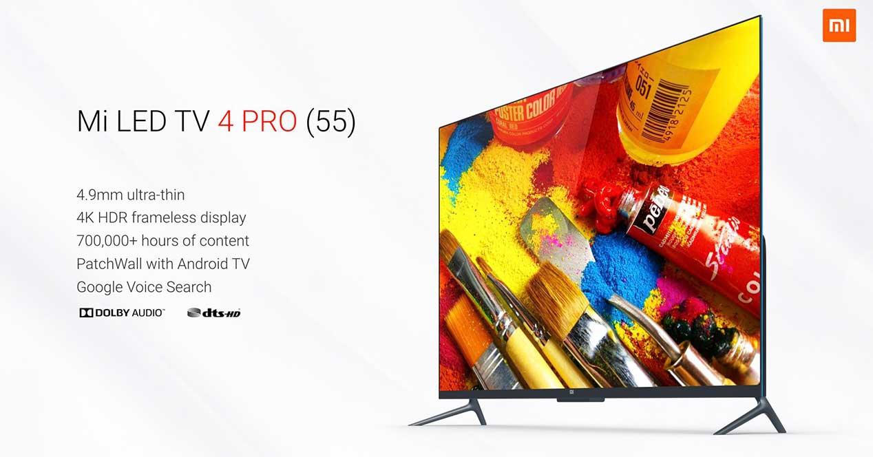 Mi LED TV 4 Pro, junto a sus principales características