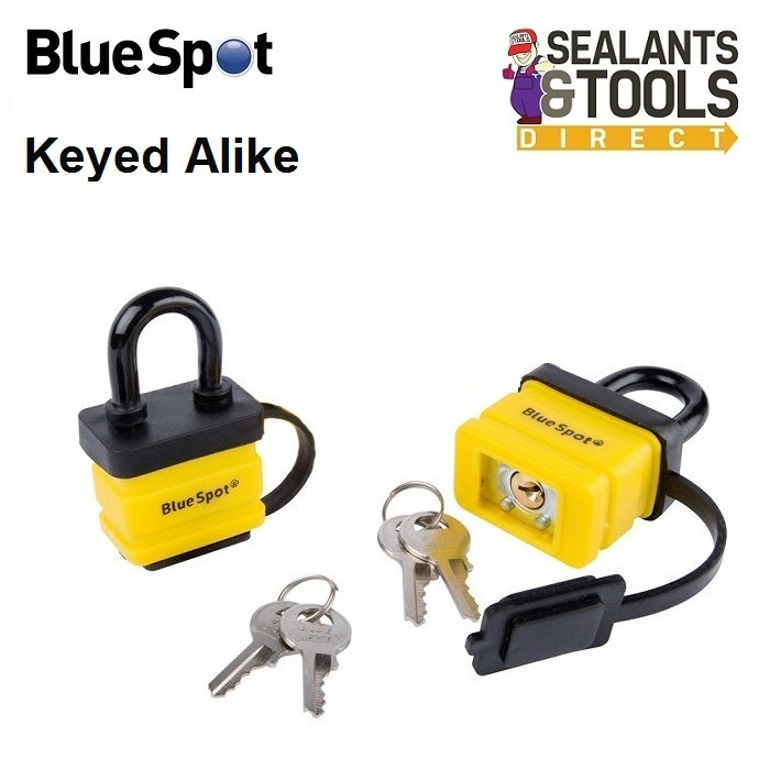 Blue Spot Weather Resistant Same Key Padlocks Twin Pack 70945
