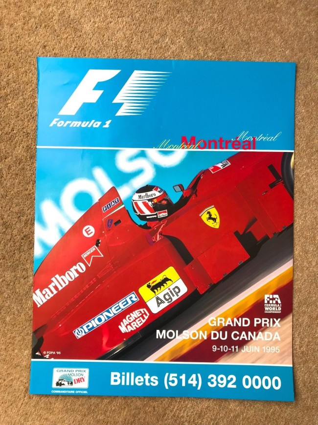 1995 CANADA F1 RACE POSTER