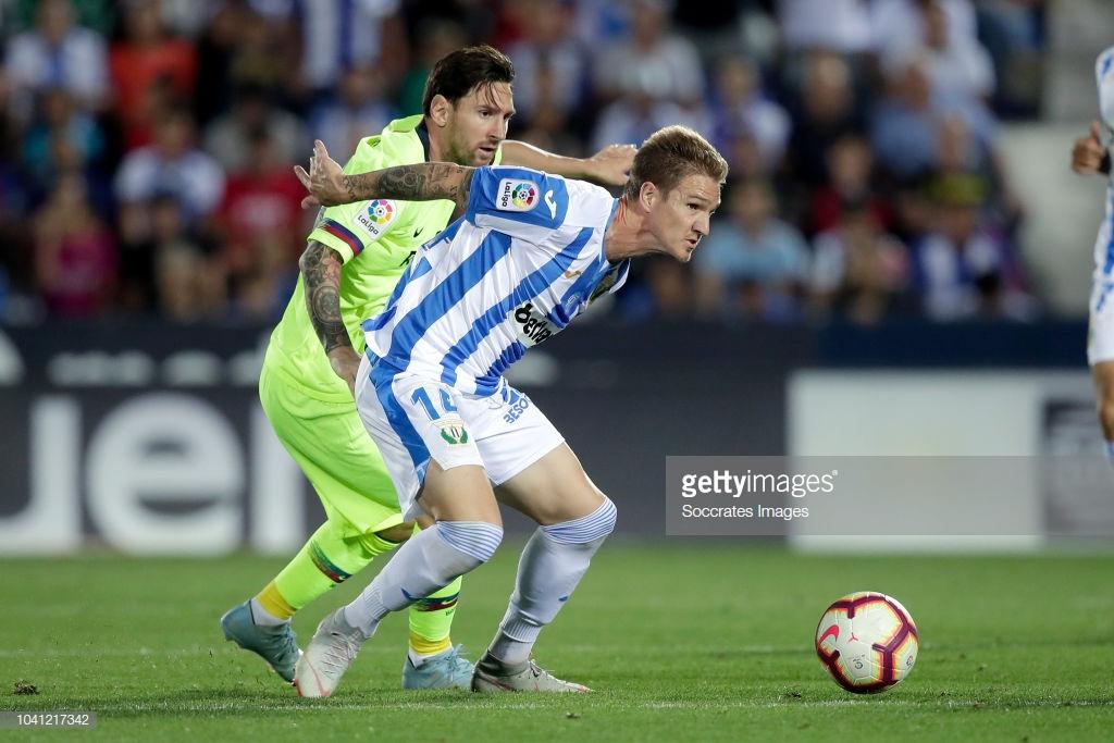 صور مباراة : ليغانيس - برشلونة 2-1 ( 26-09-2018 ) U