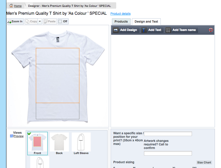 Image of make your own tshirt design process