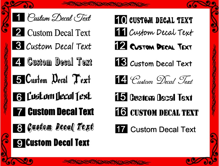 Custom text personalised name lettering funny car van window decal sticker