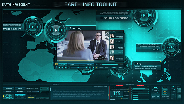Videohive Earth Info Toolkit 21032136