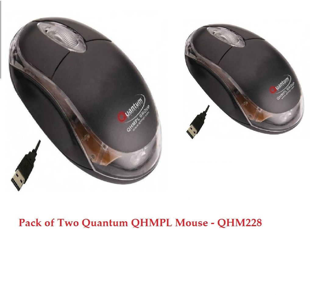Pack of Two Quantum QHMPL Mouse – QHM222