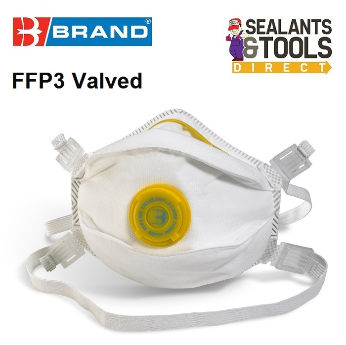 B Brand FFP3 Valved Dust Mask