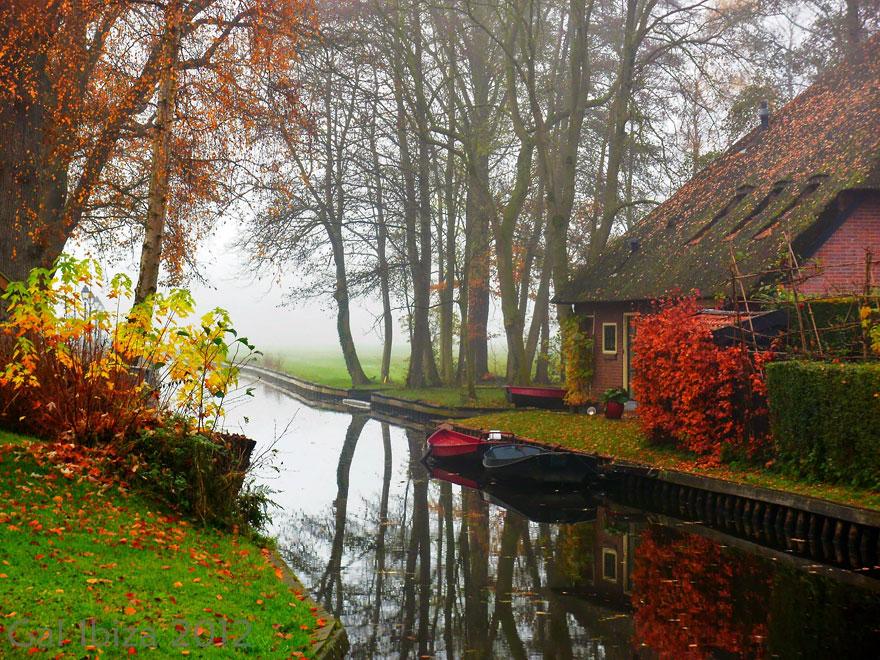 Từ anh mây xoã hoàng hôn Giethoorn_netherlands