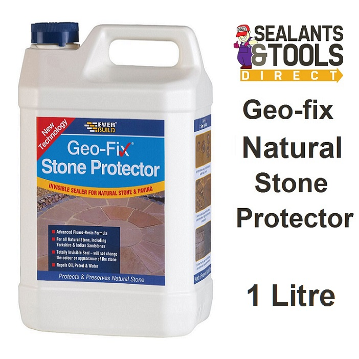 Everbuild Geo-fix Natural Stone Protector Sealer 1 Litre STONE1