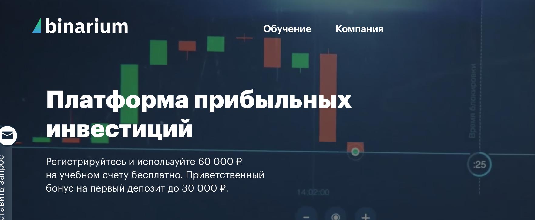 Binarium - брокер бинарных опционов с мгновенными выплатами