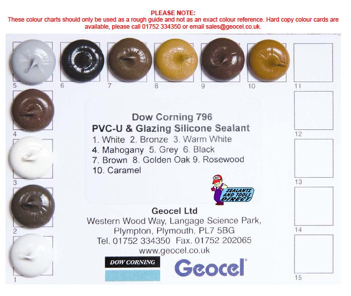 Dow Corning 796 Colour Card