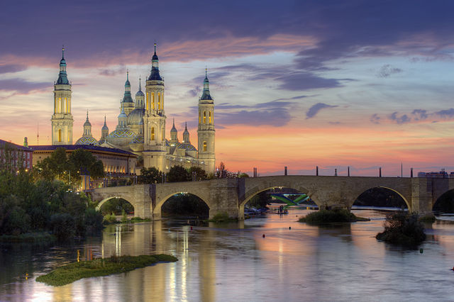 640px Basilica of Our Lady of the Pillar and the Ebro River Zaragoza