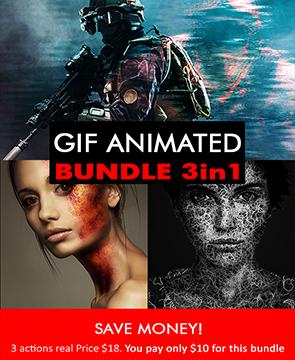 Animated bundle  - Animated bundle - Tech Sketch Photoshop Action