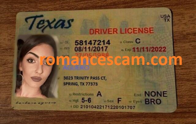 dd number on texas drivers license