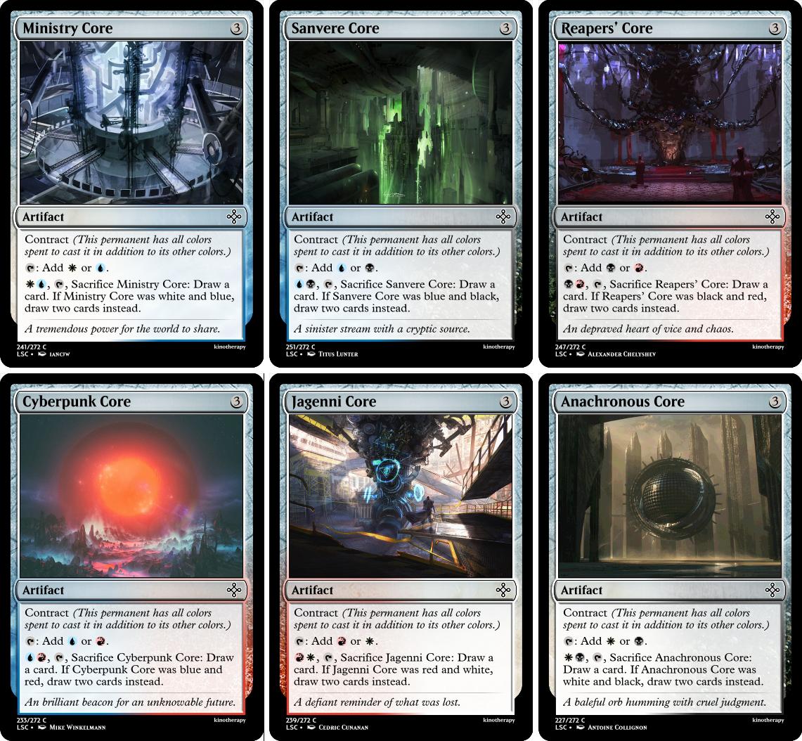 Ministry Core, Sanvere Core, Reaper's Core, Cyberpunk Core, Jagenni Core, Anachronous Core