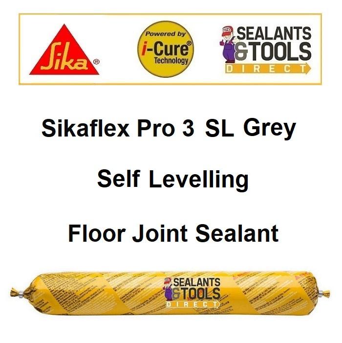 Sika Sikaflex Pro 3 SL Self Levelling Floor Joint Sealant Concrete Grey