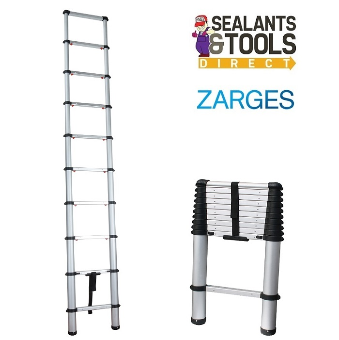 Zarges 2.9m Soft Close Telescopic Ladder XMS18LADDER