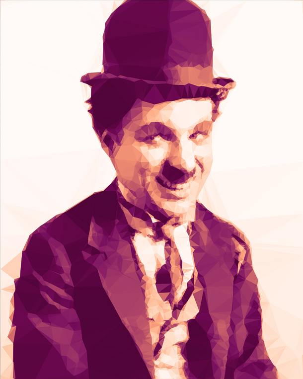Charlie_Chaplin_Low_Poly_Portrait
