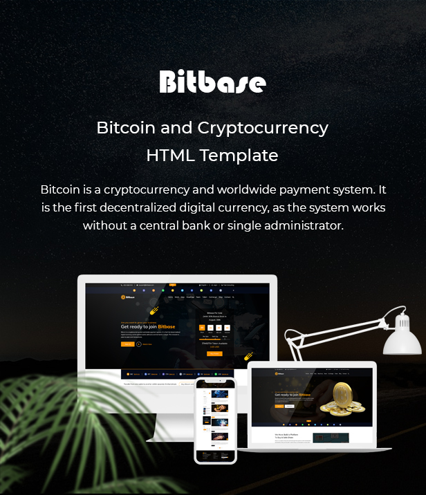Bitbase - Bitcoin and Cryptocurrency HTML Template