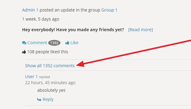 Buddypress Comments