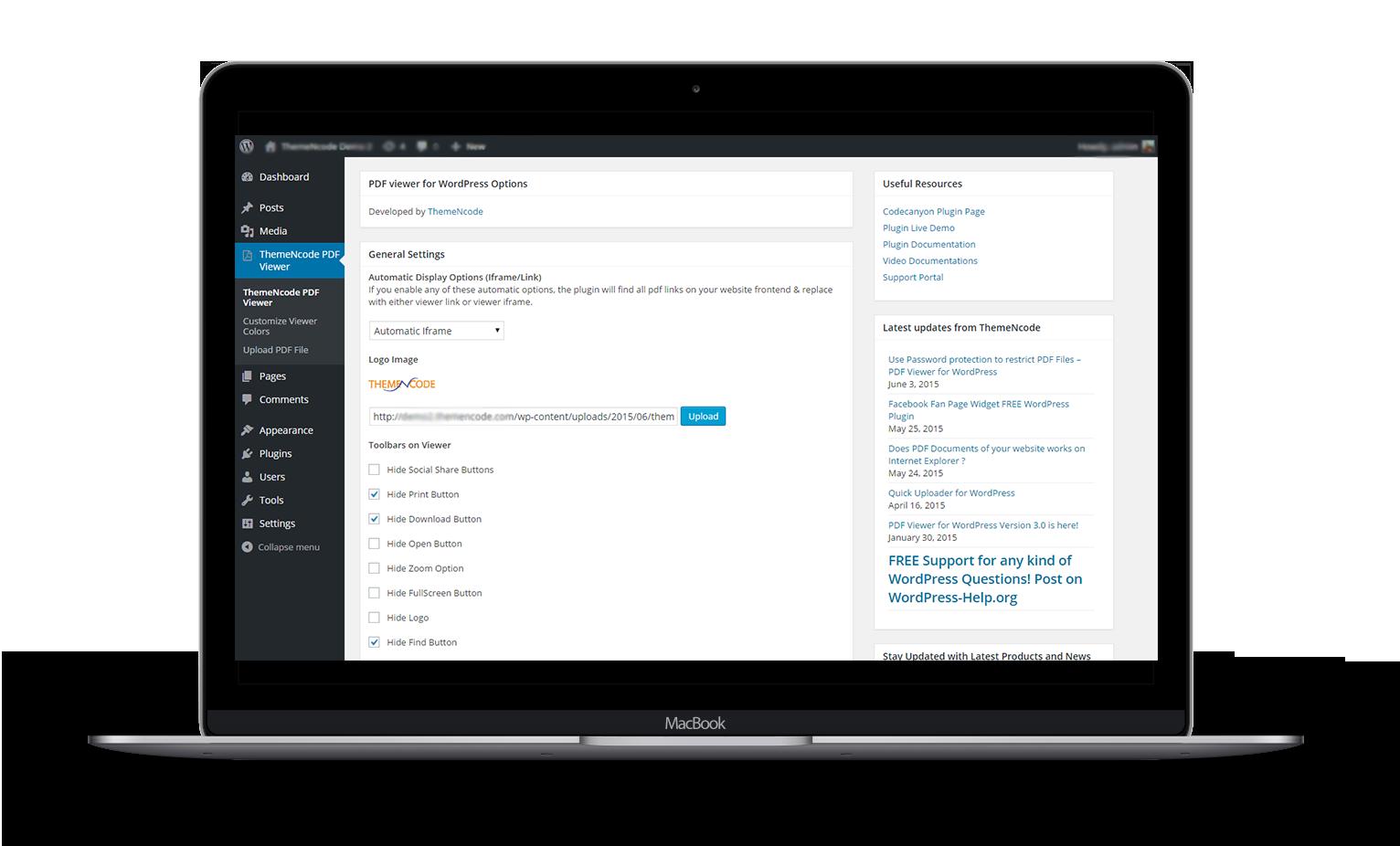 PDF viewer for WordPress - 3