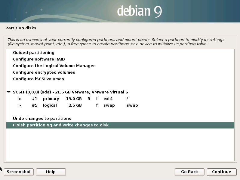 install debian 9