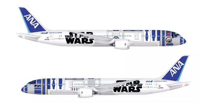All Nippon Airways Star Wars themed Dreamliner