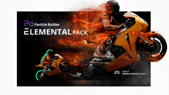 Videohive Particle Builder | Elemental Pack: Fire Sand Smoke Sparkle Particular Presets V2.15 14664200