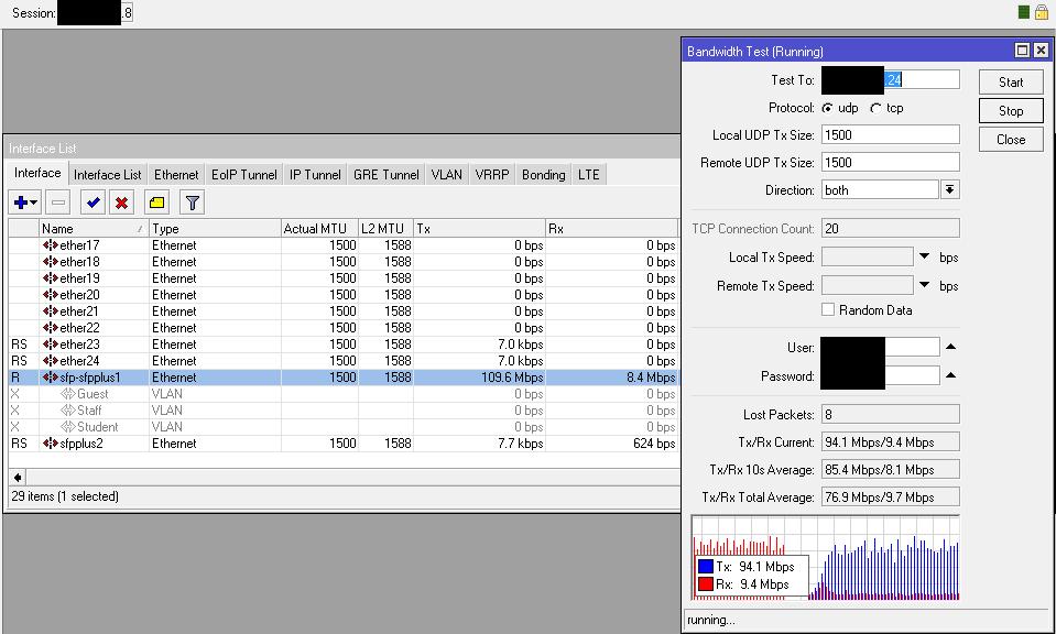 Less than 2000 Mbps on 10GB link - MikroTik