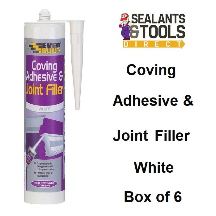 Everbuild Cove Coving Adhesive & Filler 310ml Box of 6