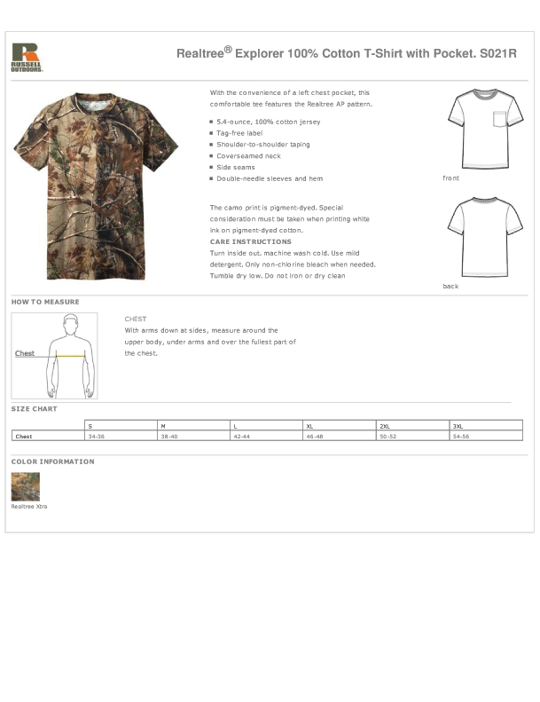 171a9904 ... Outdoors™ Realtree® 1/4-Zip Sweatshirt, RO78BL Russell Outdoors™  Realtree® Blanket, LRO54V Russell Outdoors™ Realtree® Ladies 100% Cotton  V-Neck T-Shirt