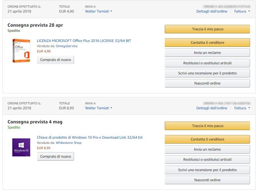 Licenze ESD su Amazon