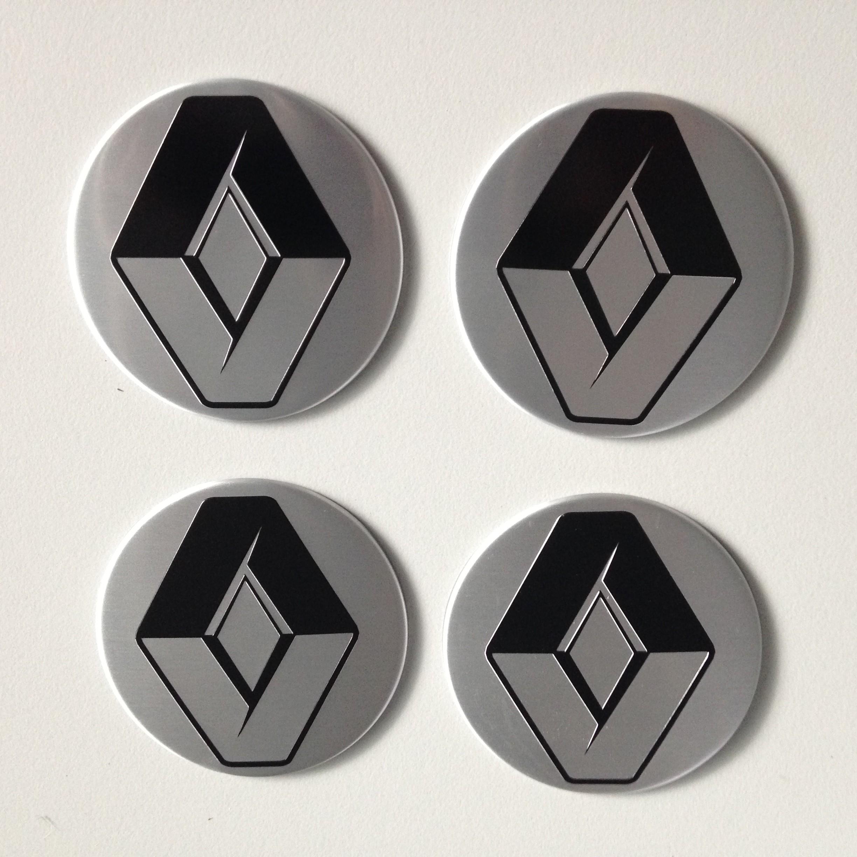 Details Zu 4 Renault Aufkleber 58mm Silber Embleme Logo Nabendeckel 47 R