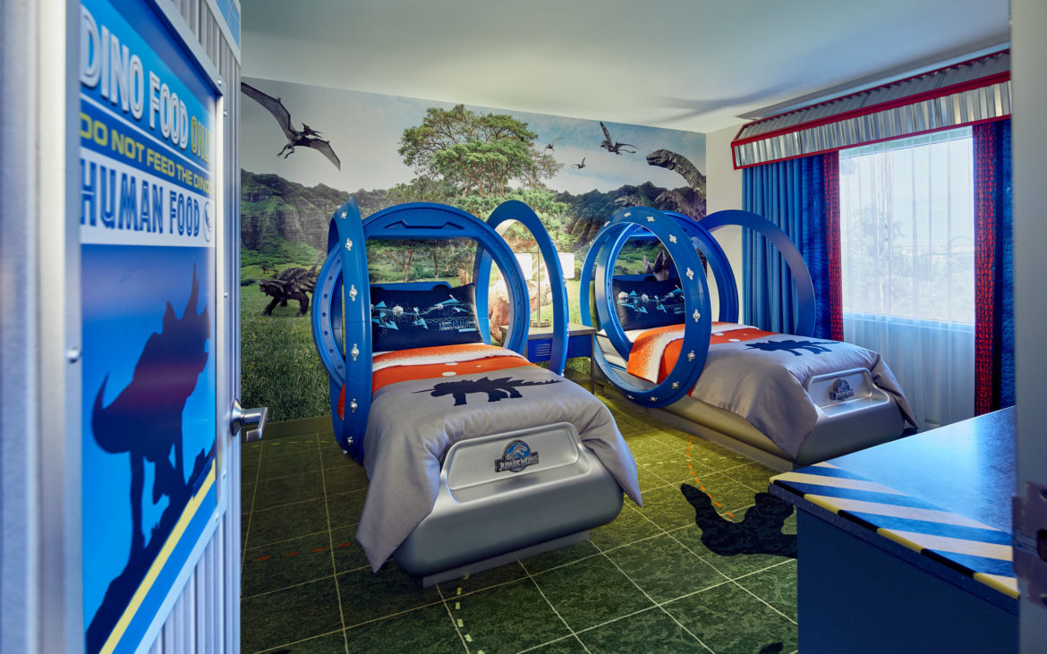 Jurassic World themed rooms at Universal Orlando Resort