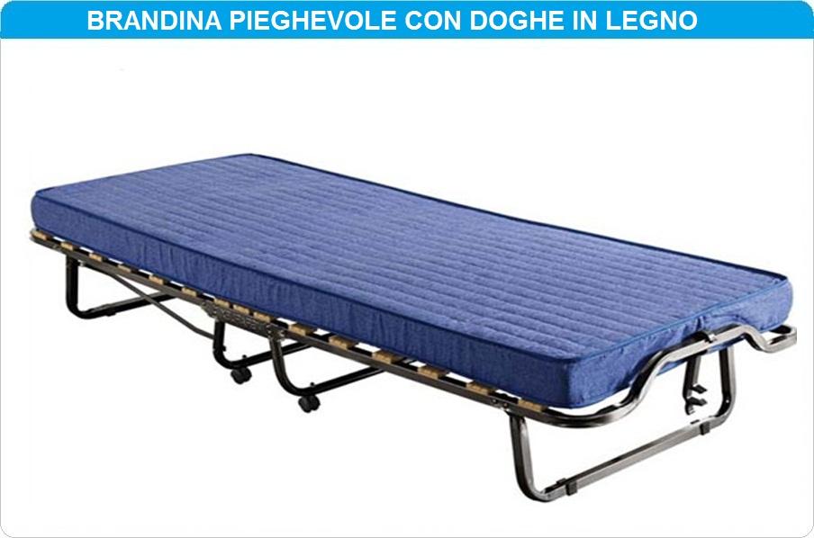 BRANDINA LETTO RETE PIEGHEVOLE A DOGHE CON MATERASSO SINGOLA CON ...