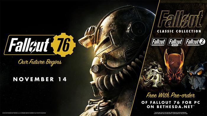 Fallout: Collection в подарок за предзаказ Fallout 76 и расписание бета-тестов