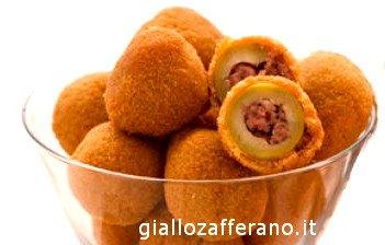 olive all Ascolana, aceitunas fritas rellenas, aceitunas a la ascolana