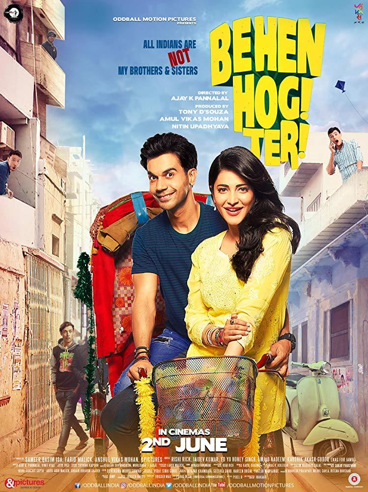 Behen Hogi Teri (2017) Hindi 720p HDRip 900MB