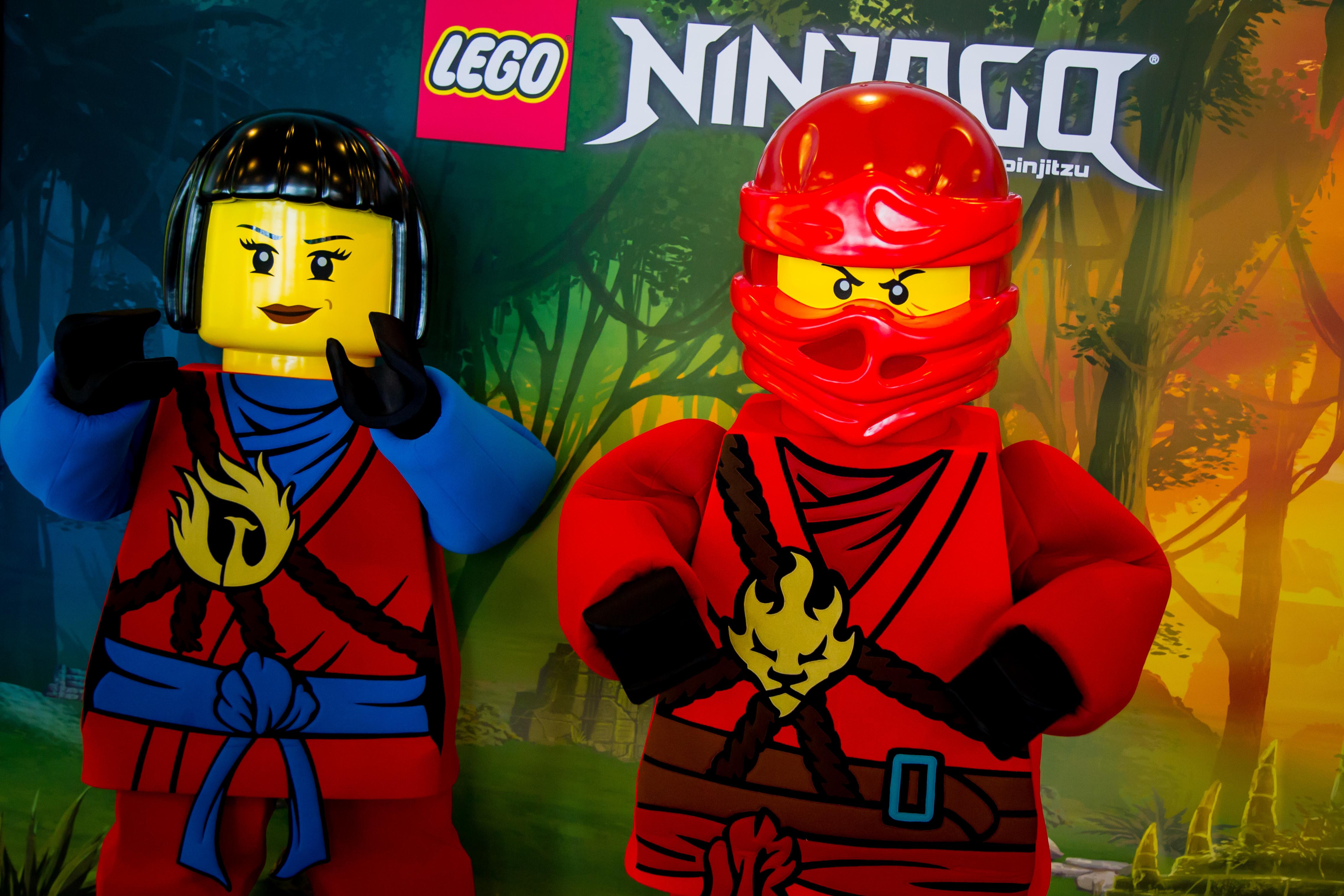 Lego Ninjago characters at Legolanf Florida