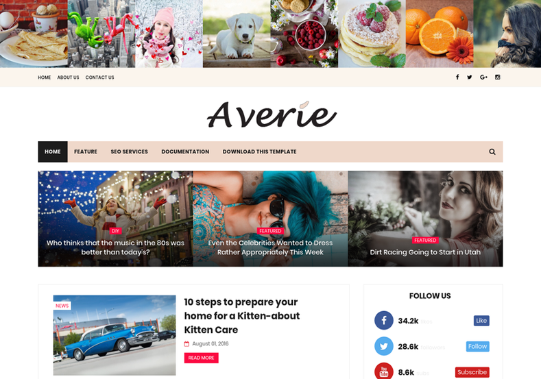 Averie_Minimal_Blogger_Template