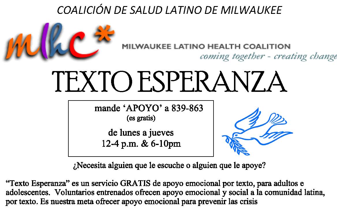 Half page TEXTO Esperanza flyer